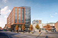 Regeneration of the new offices, homes and leisure spaces, Crocus Place.